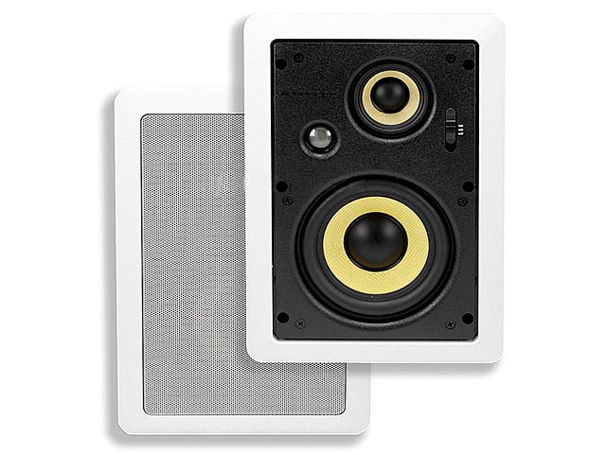 Caliber In-Wall Speakers 5.25-Inch Fiber 3-Way (pair)