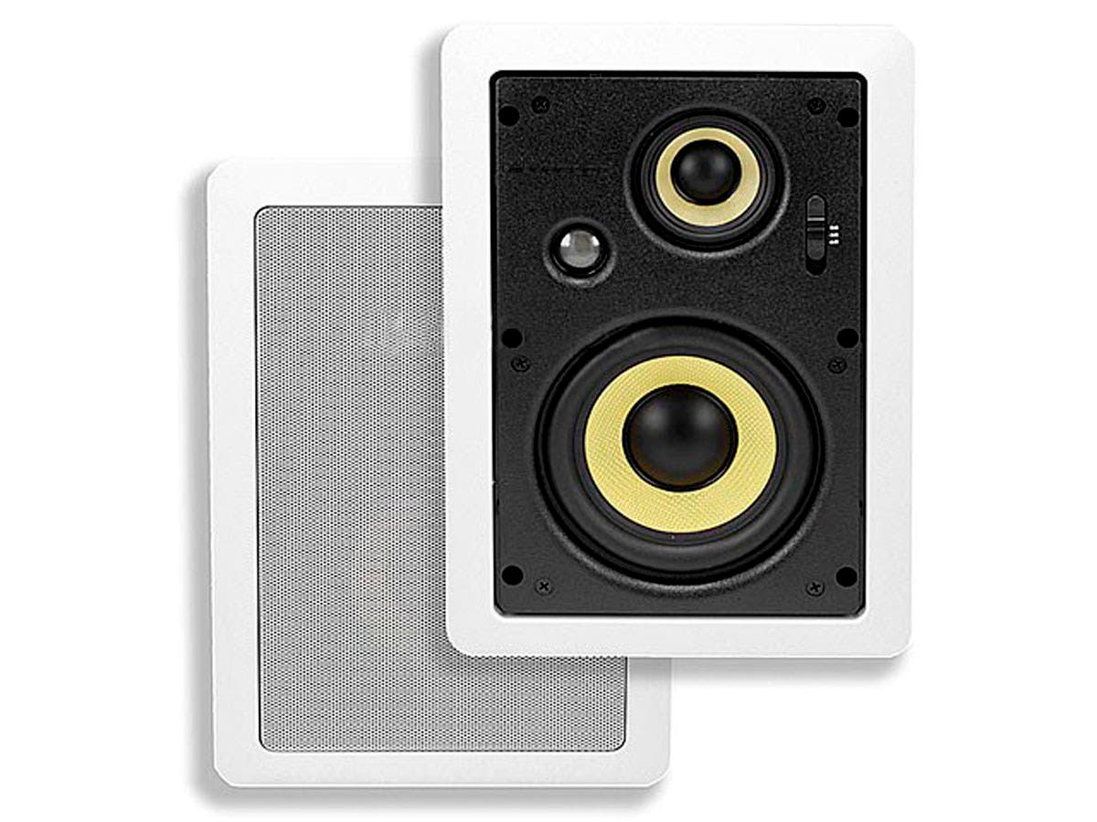Monoprice Caliber In-Wall Speakers 6.5in Fiber 3-Way (pair)-Large-Image-1