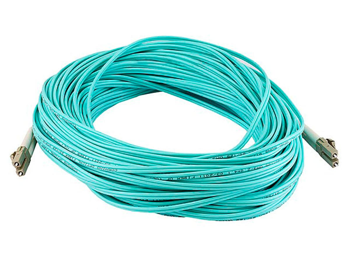 10Gb Fiber Optic Cable, LC/LC, Multi Mode, Duplex - 30 Meter (50/125 Type) - Aqua