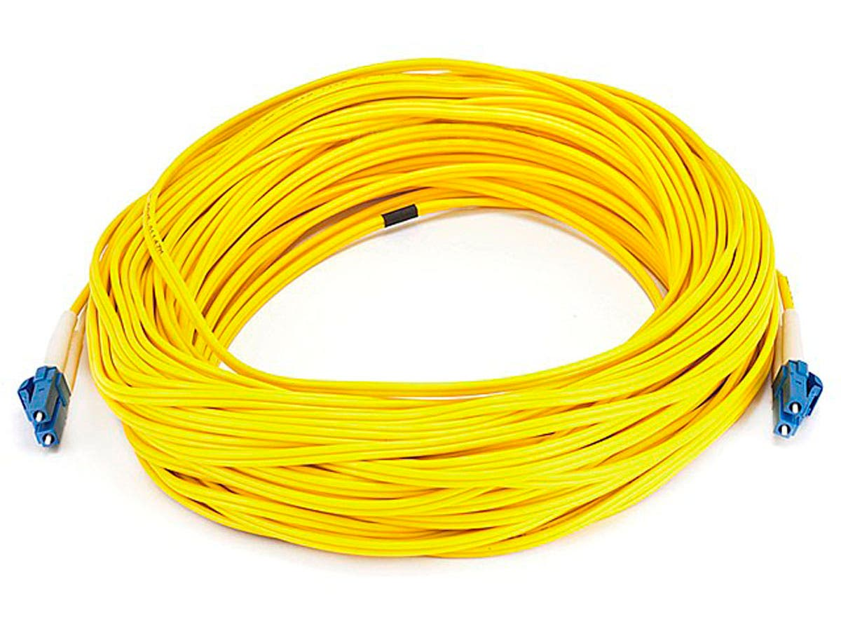 Fiber Optic Cable, LC/LC, Single Mode, Duplex - 30 meter (9/125 Type) - Yellow