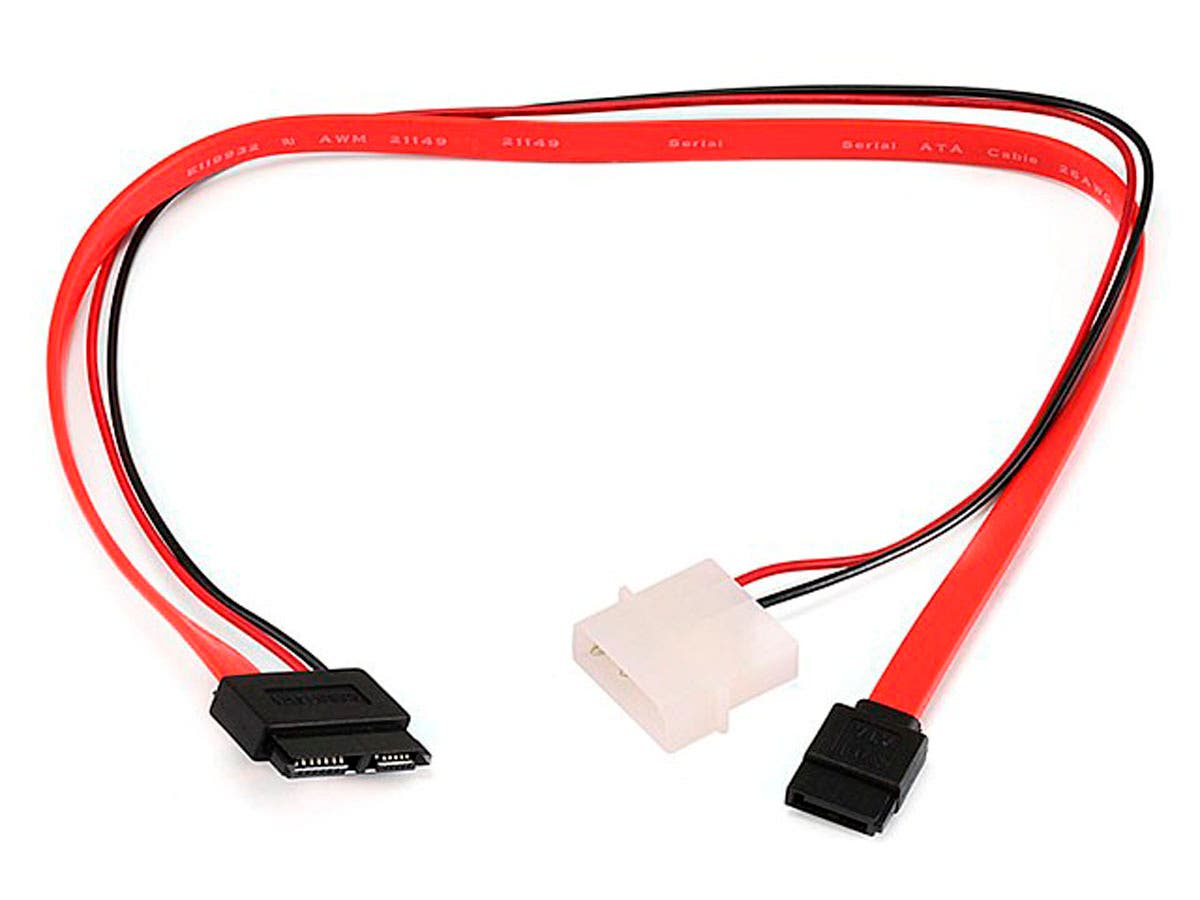 Monoprice 16inch Slim SATA to SATA Data and Power Combo Cable-Large-Image-1
