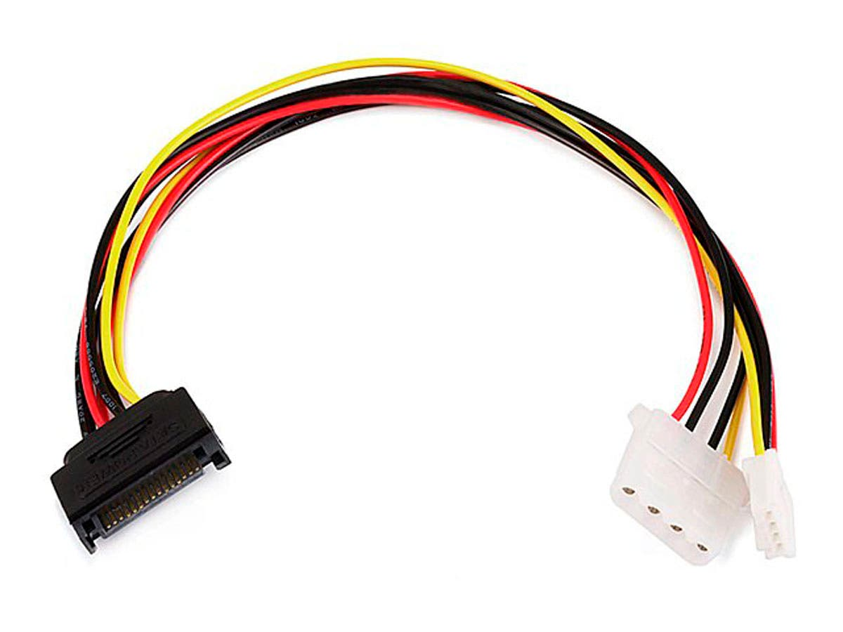 Monoprice 12inch SATA 15pin Male to 4pin Molex and 4pin Power Cable-Large-Image-1