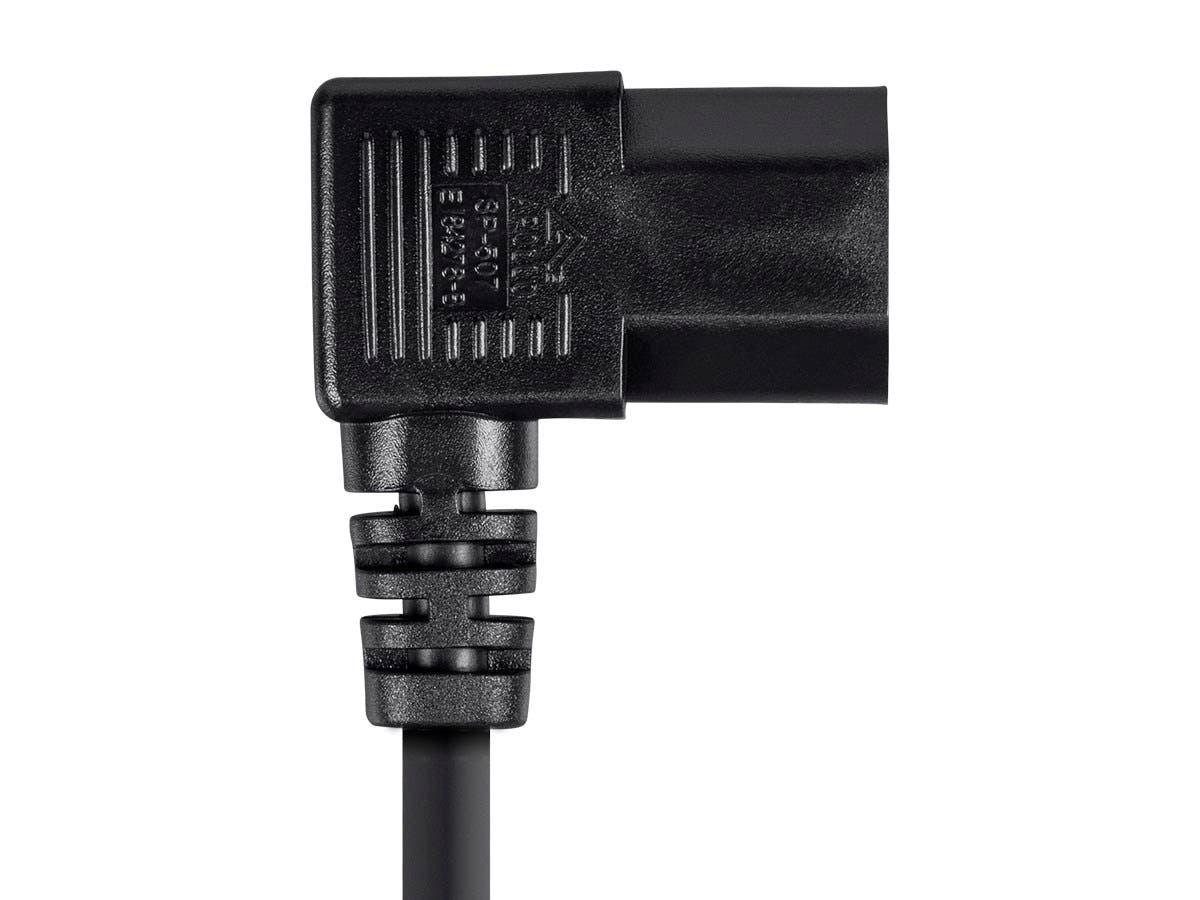 NEMA 5-15P to IEC-320-C13 125V SVT 8 Feet Black 18AWG 10A Monoprice Power Cord