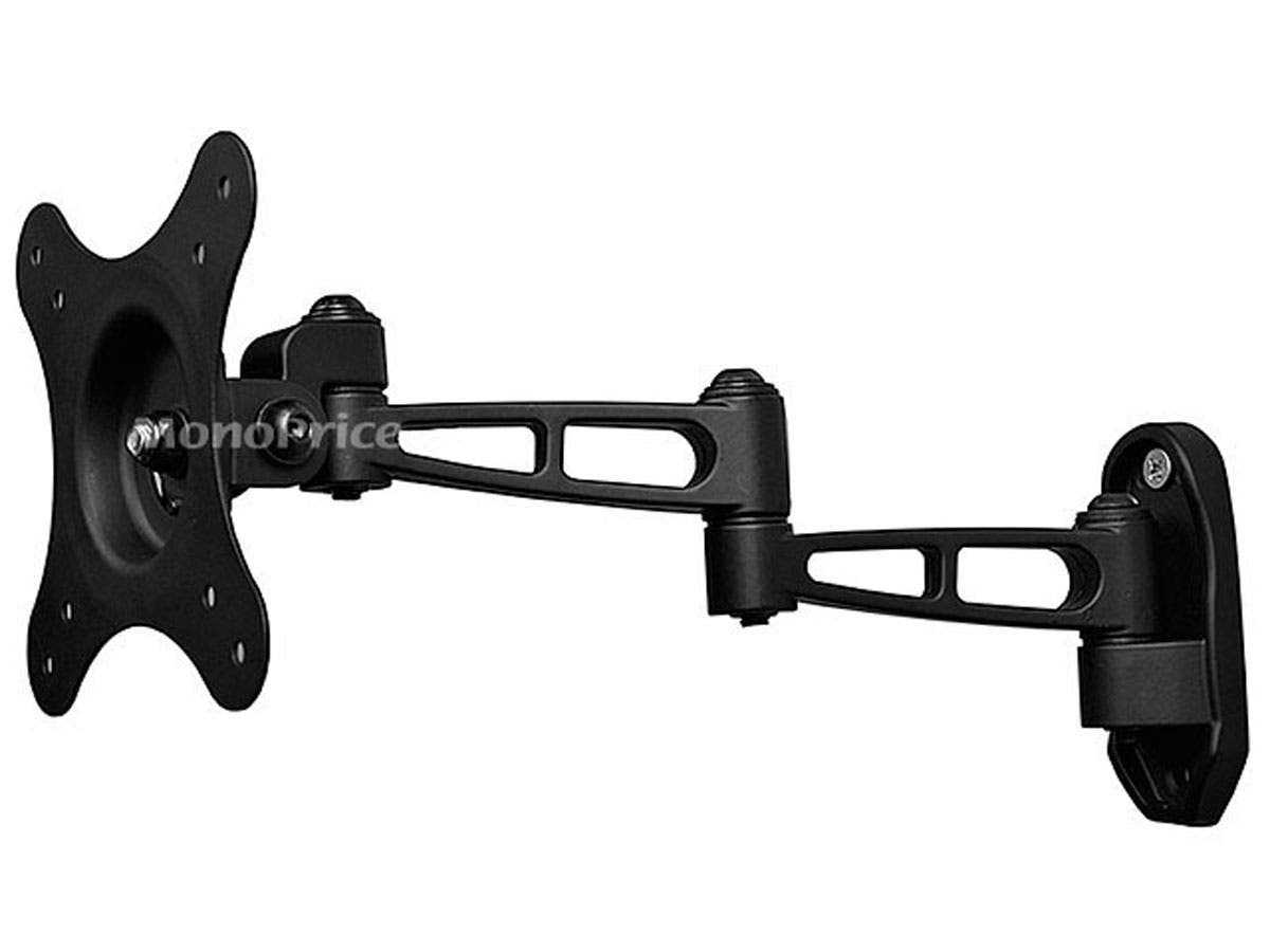 Monoprice Full-Motion Articulating TV Wall Mount Bracket - For TVs 10in to 24in, Max Weight 30lbs, Extension Range of 3.1in to 11.0in, VESA Patterns Up to 100x100, Rotating-Large-Image-1