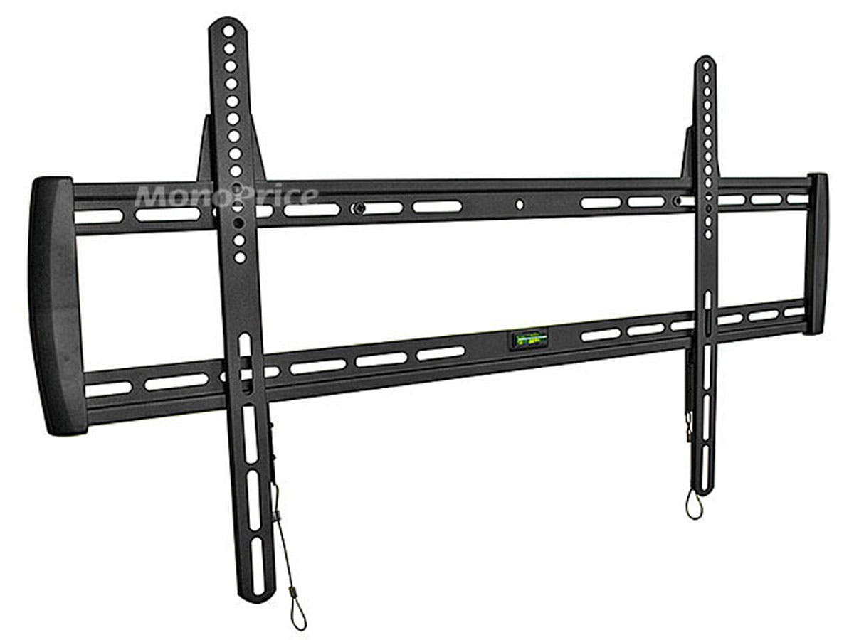 Monoprice Fixed TV Wall Mount Bracket - For TVs 37in to 63in, Max Weight 200lbs, VESA Patterns Up to 800x500-Large-Image-1