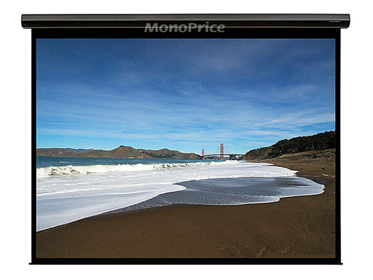 Monoprice 150in HD Motorized Projection Screen 16:9-Large-Image-1