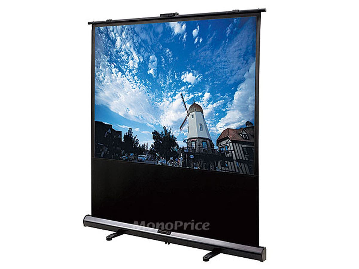 Monoprice 100in 4:3 White Fabric Portable Pull-Up Projection Screen-Large-Image-1