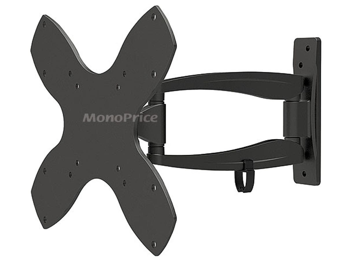 Monoprice Stable Series Full-Motion Articulating TV Wall Mount Bracket For TVs 23in to 42in, Max Weight 44lbs, Extension Range of 1.8in to 10.6in, VES