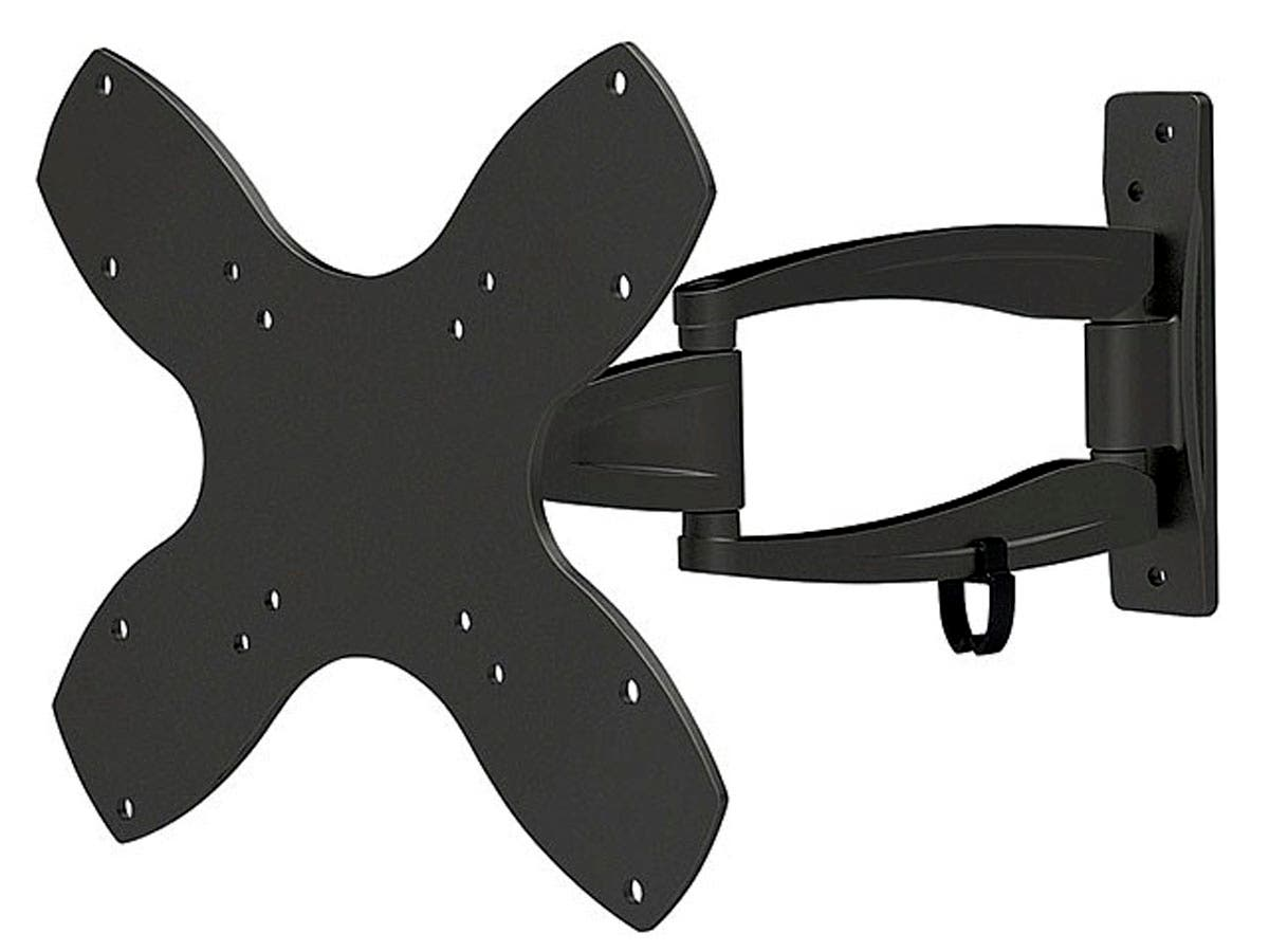 Monoprice Stable Series Full-Motion Articulating TV Wall Mount Bracket For TVs 23in to 42in, Max Weight 44lbs, Extension Range of 1.8in to 13.0in, VESA Patterns Up to 200x200, UL Certified-Large-Image-1