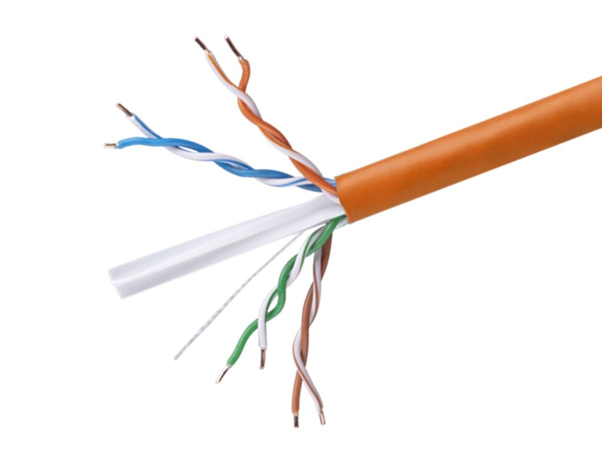 Monoprice Cat6 Ethernet Bulk Cable Solid 550mhz Utp Cmr Riser How To Run Through Walls Rated