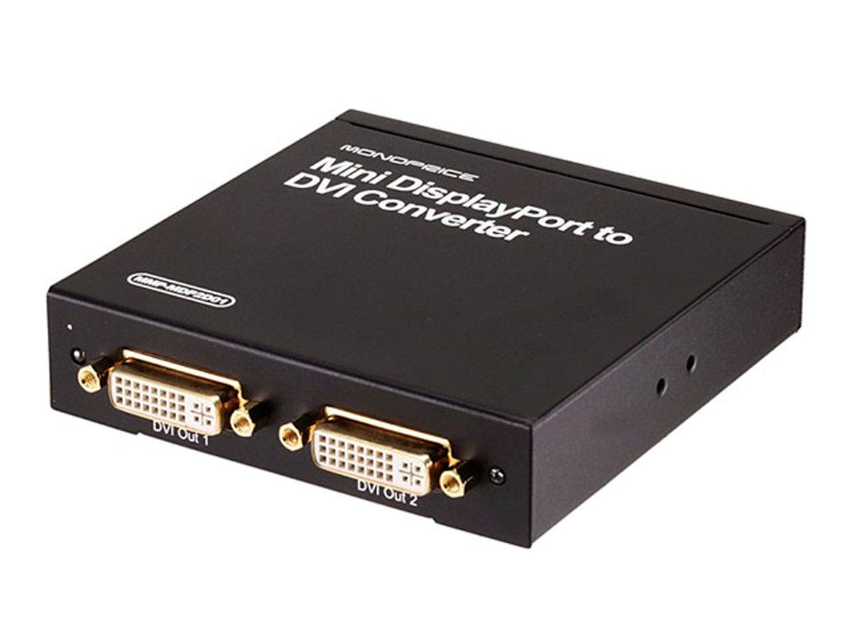 Monoprice Mini DisplayPort to DVI (2x DVI Output) Converter-Large-Image-1