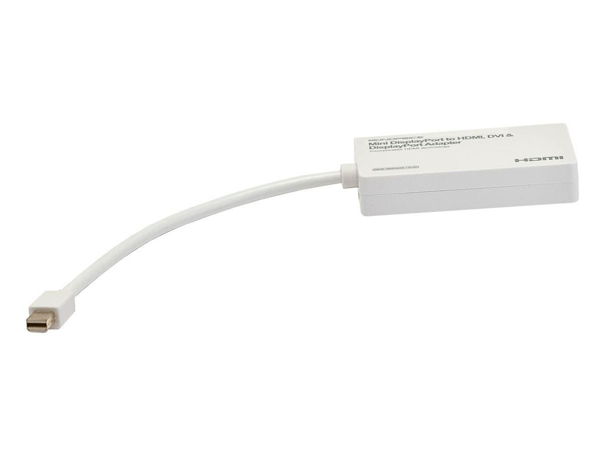 Mini DisplayPort 1.1 to HDMI®, DVI & DisplayPort Adapter - White