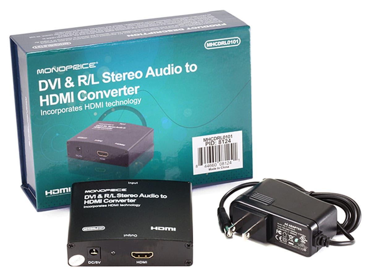 Monoprice DVI & R/L Stereo Audio to HDMI® Converter - Monoprice.com