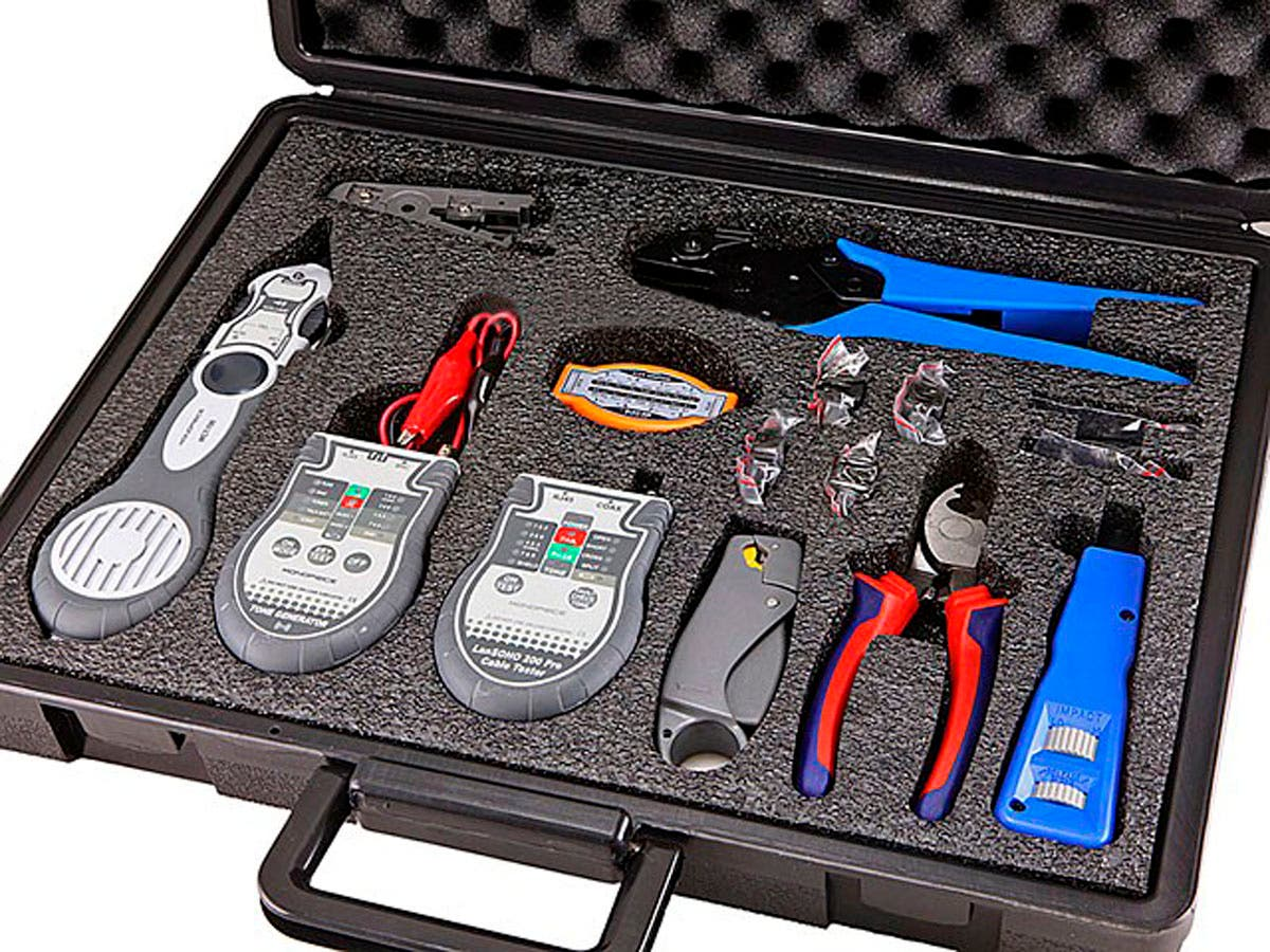 Lan & Coaxial Installation Kit w/ Tester & Tone Generator