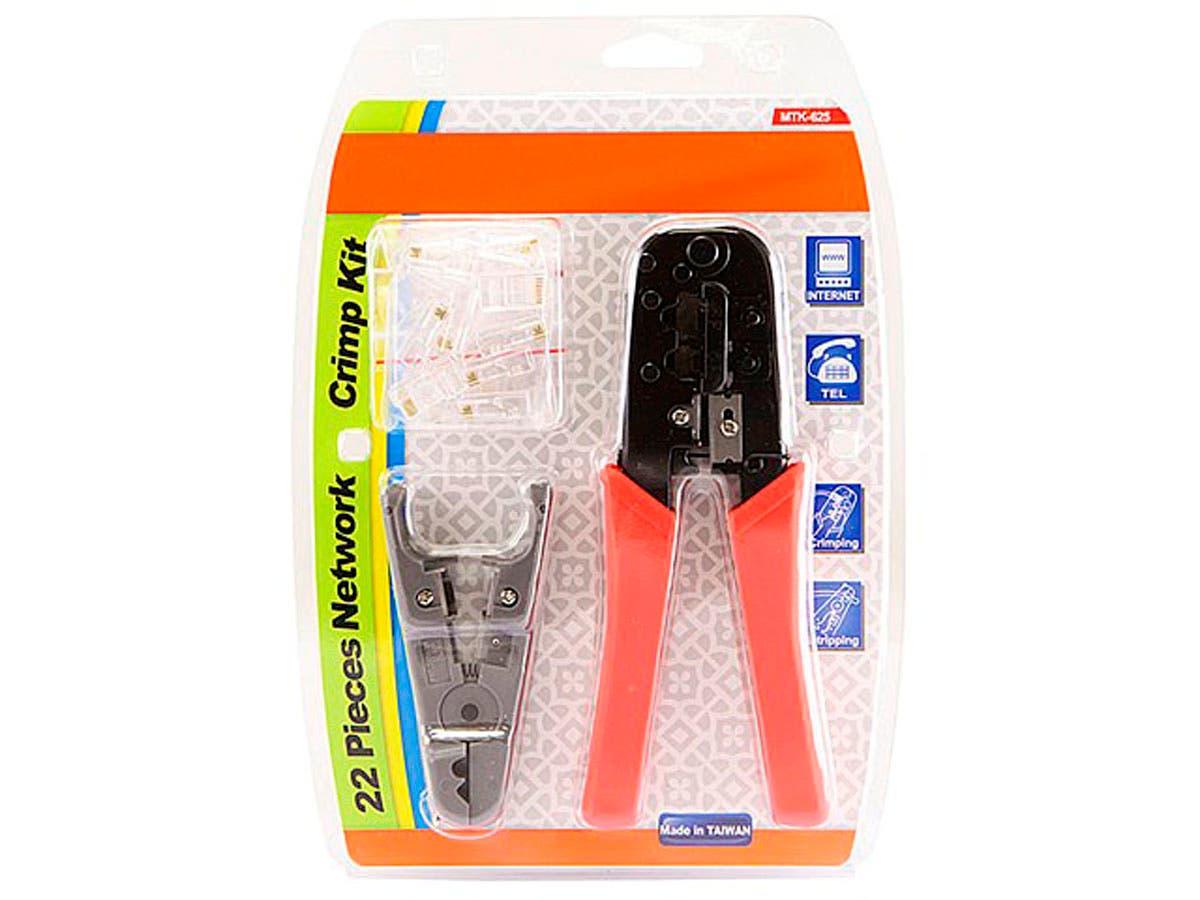 Monoprice RJ-45/RJ11 Stripping and Crimping Tool Kit w/ Modular Plugs-Large-Image-1