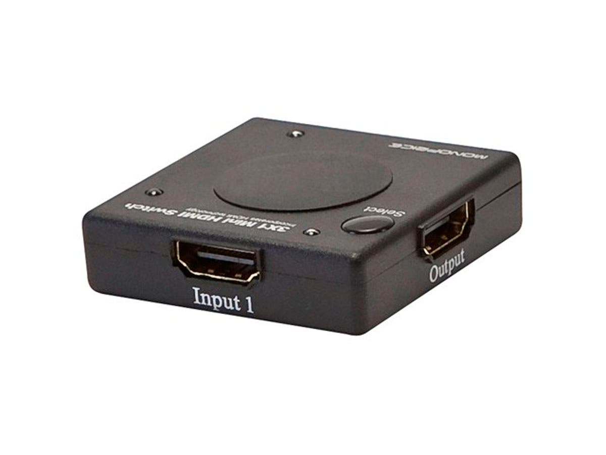 Monoprice Blackbird - 3x1 HDMI 1.4 Switch, Mini, HDCP 1.4, 1080P@60hz-Large-Image-1
