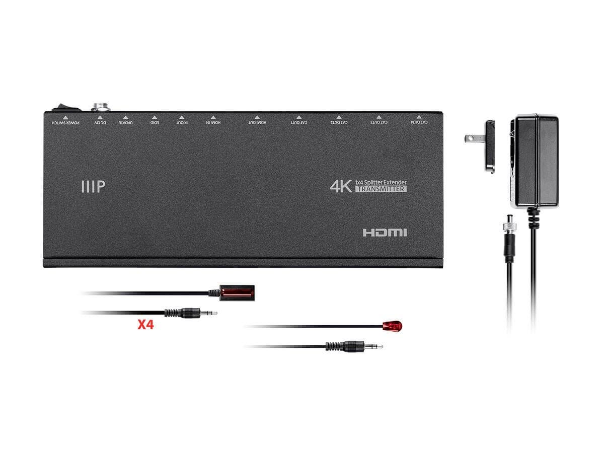 1x4 HDMI Amplifier Splitter over Cat5e/Cat6 Complete Solution Kit ...