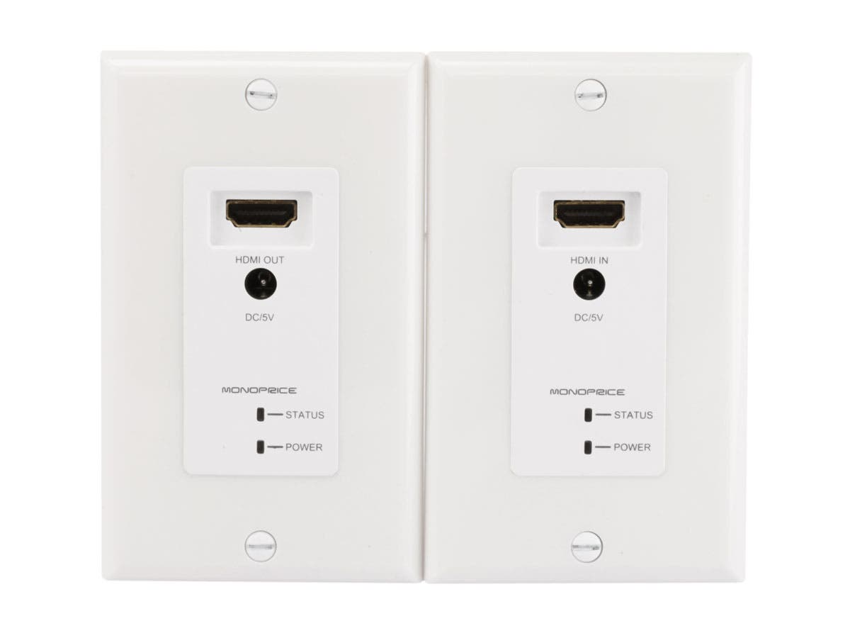 Wall Plug Plates Hdmi Over Cat5Ecat6 Extender Wall Plate With Led Indicator Pair
