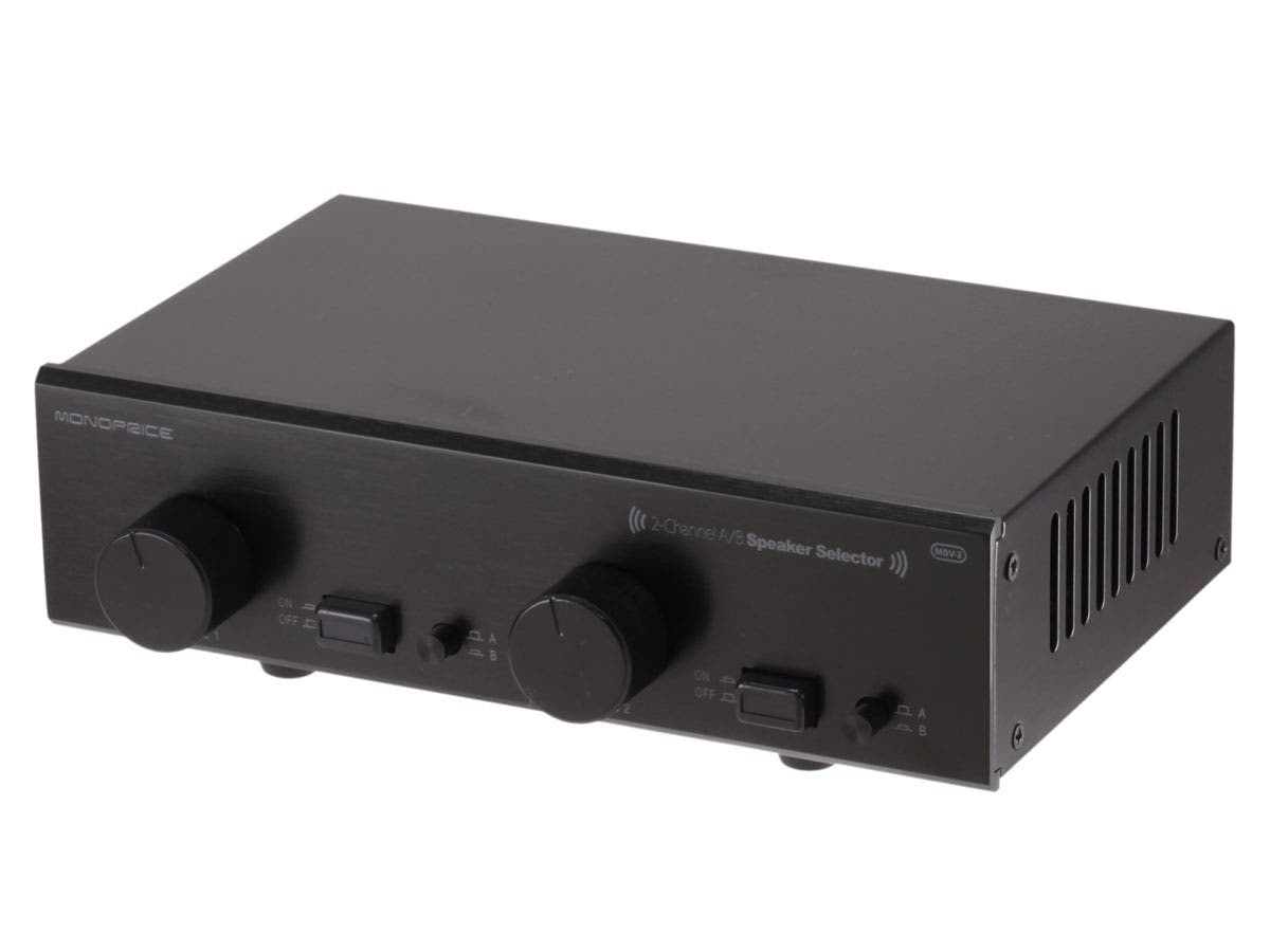 2-Channel A/B Speaker Selector w/ Volume Control
