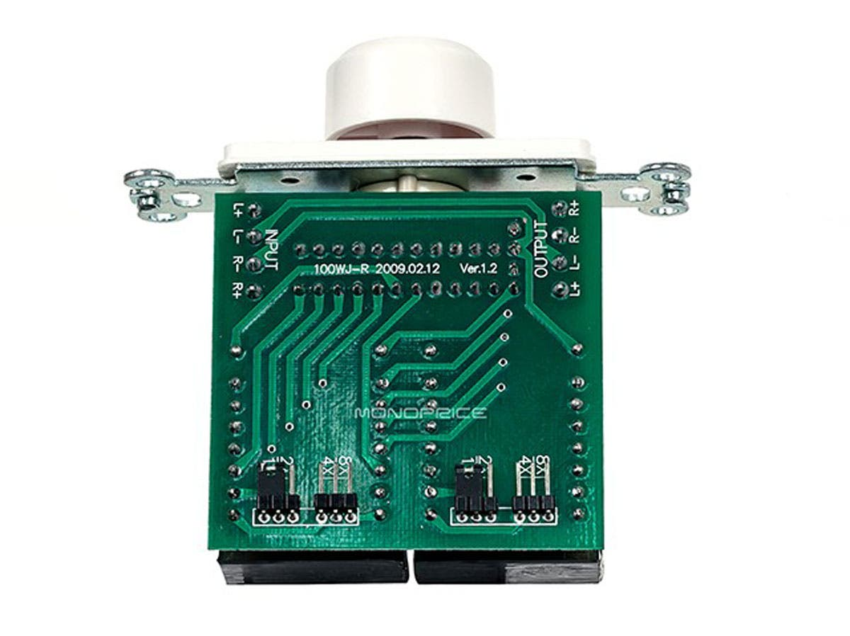 Monoprice Speaker Volume Controller Rms 100w Rotary Type White With Control Wiring Diagram On 70v Small Image