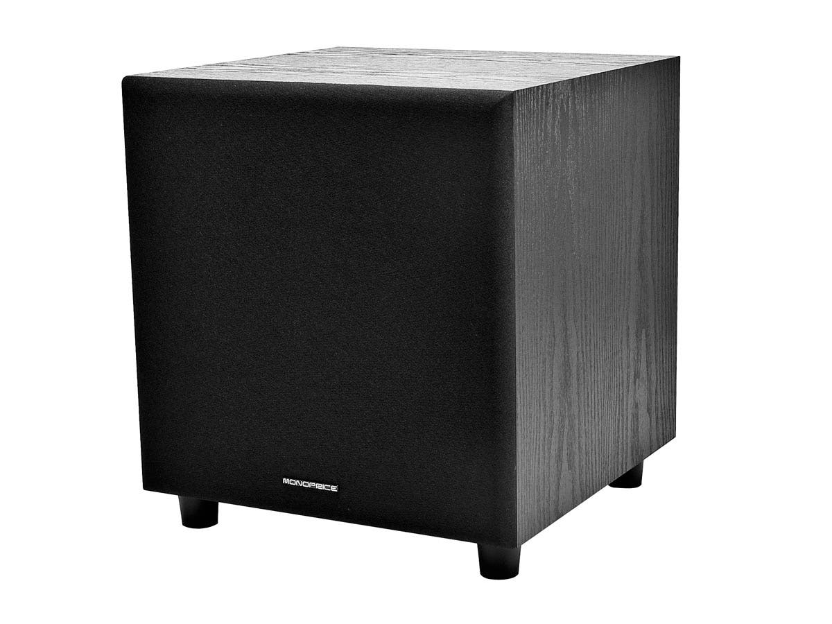 8-Inch 60-Watt Powered Subwoofer, Black-Large-Image-1