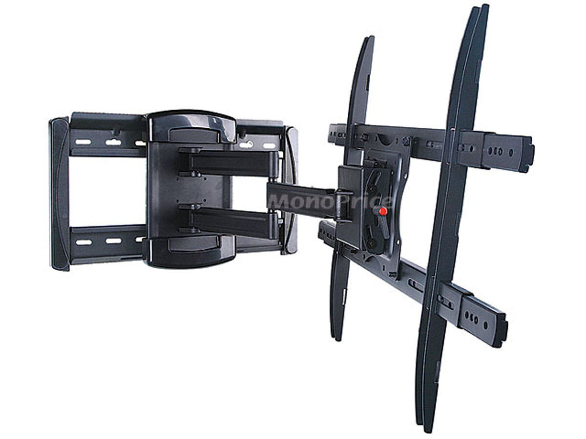 monoprice full motion articulating tv wall mount bracket for tvs 40in to 70in max weight 175. Black Bedroom Furniture Sets. Home Design Ideas