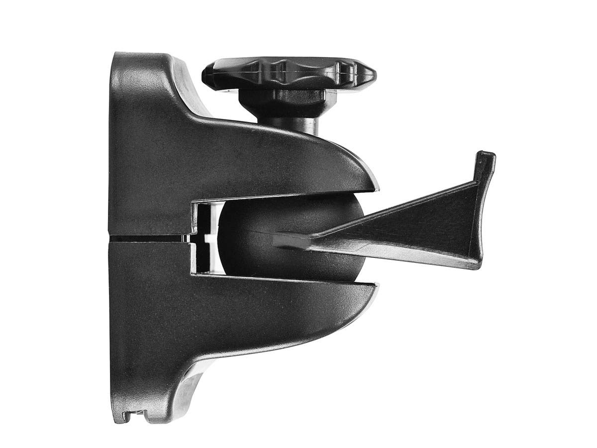 Tilting/Swiveling 4 lb. Capacity Speaker Wall Mount Brackets (Pair), Black