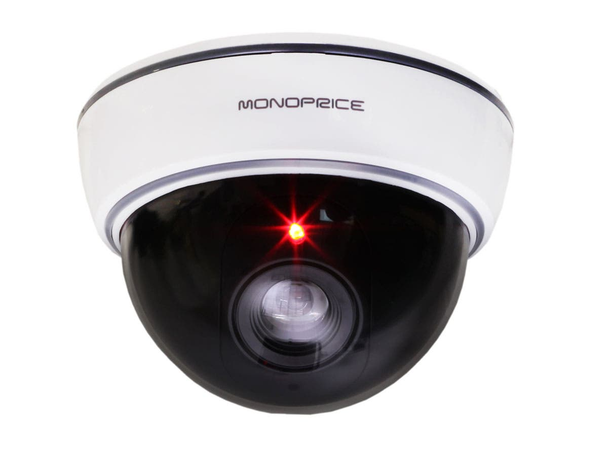 White Dummy Dome Camera