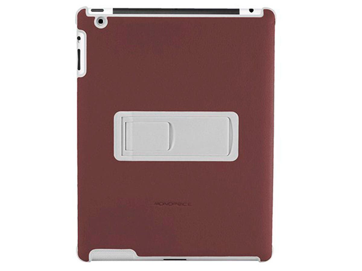 Polycarbonate and Synthetic Leather Stand Case for iPad 2, Brown