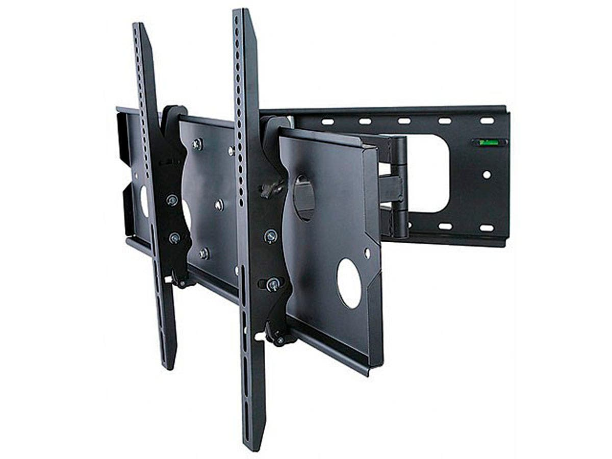 monoprice titan series corner friendly full motion articulating tv wall mount bracket tvs 32in. Black Bedroom Furniture Sets. Home Design Ideas