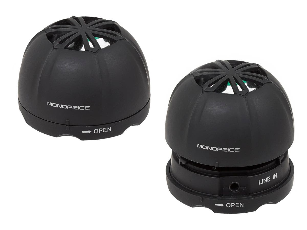 Mini Rechargeable Portable Speaker (Pair)