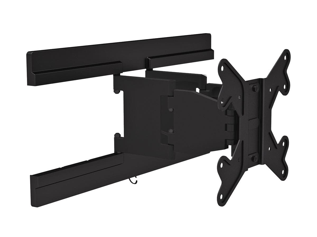 Monoprice Ultra-Slim Full-Motion Articulating TV Wall Mount Bracket For TVs 23in to 42in, Max Weight 66lbs, VESA Patterns Up to 200x200, Works with Concrete & Brick-Large-Image-1