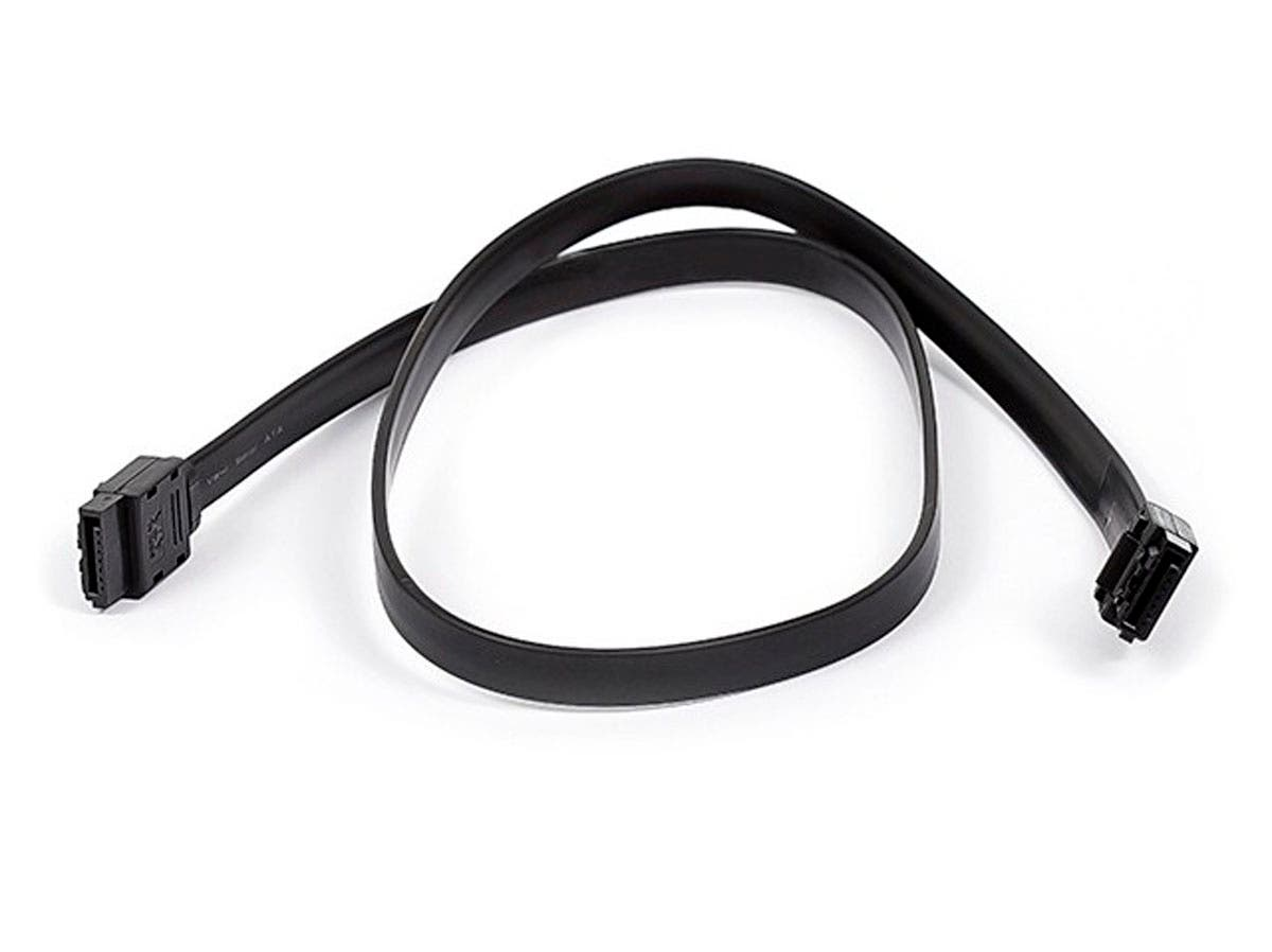 24inch SATA 6Gbps Cable w/Locking Latch - Black