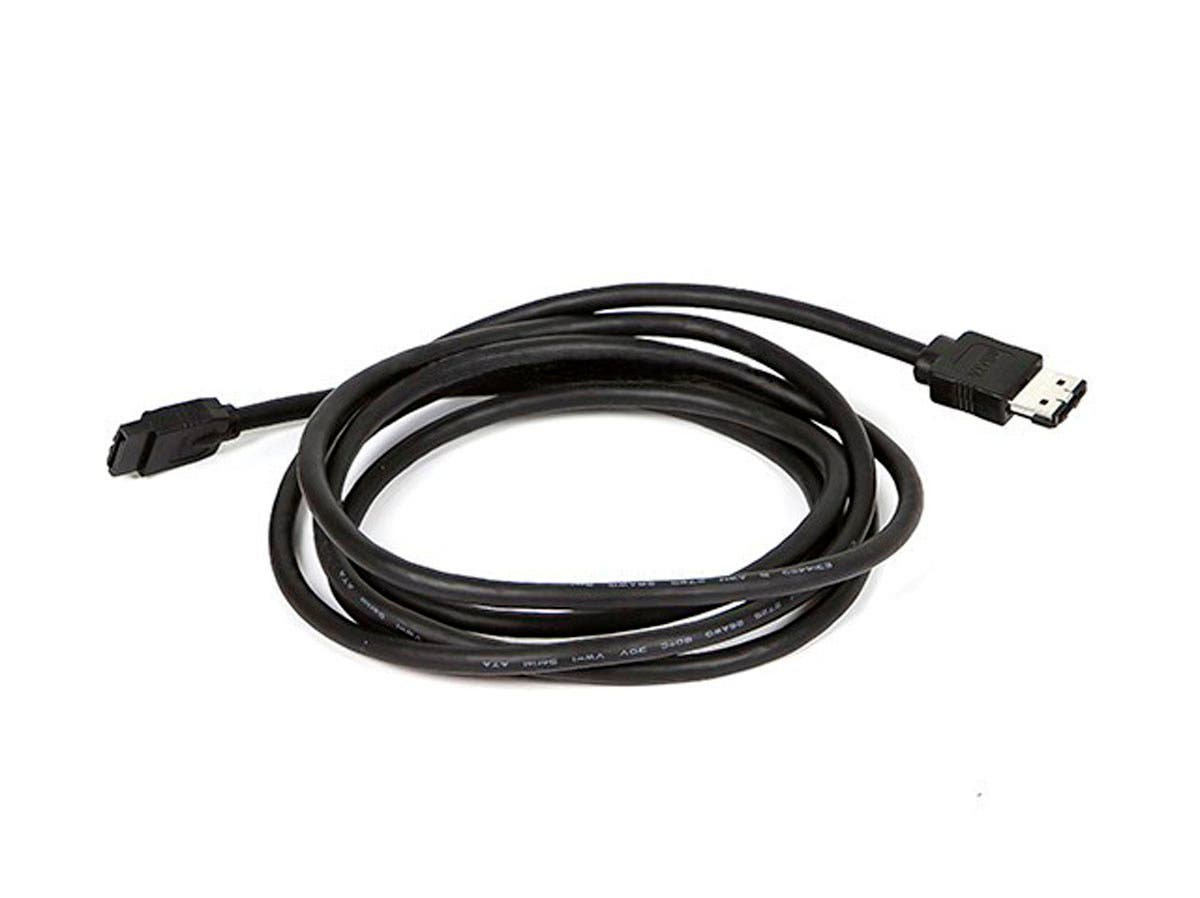 6ft SATA 6 Gbps External Shielded Cable - eSATA to SATA (Type I to Type L) - Black