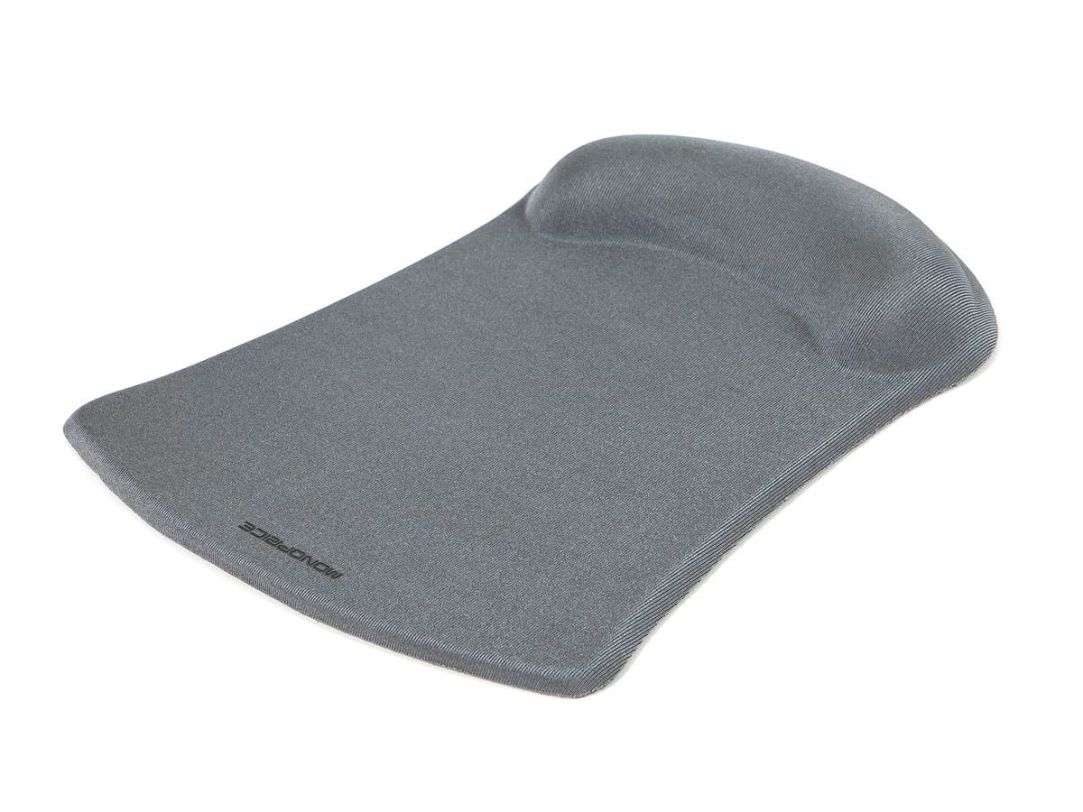 Mouse Pad with Gel Wrist Rest - Silver