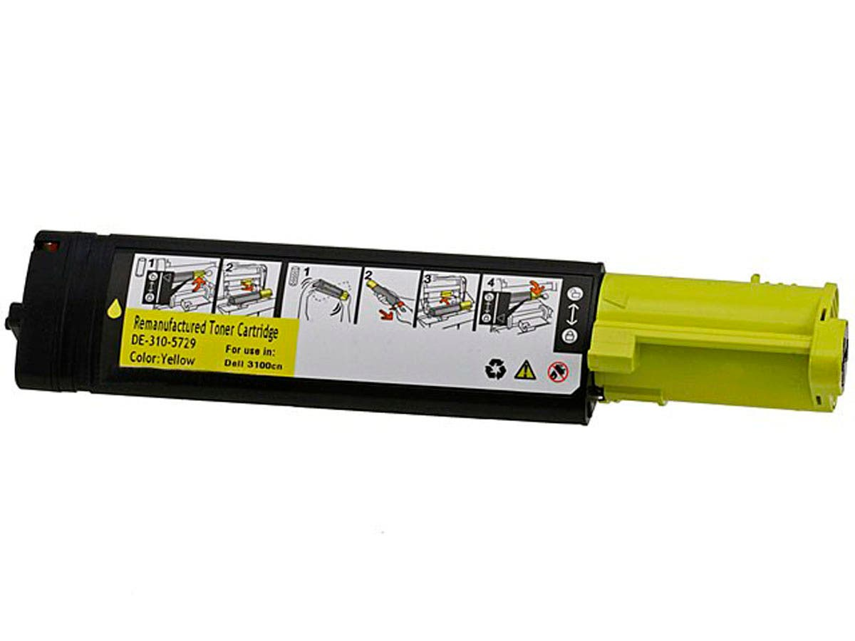 Monoprice Remanufactured Dell 3100Y Laser/Toner-Yellow-Large-Image-1