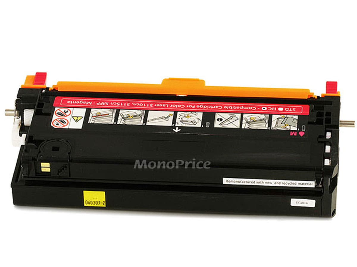 Monoprice Compatible Dell 3110/3115M Laser Toner - Magenta (High Yield)-Large-Image-1