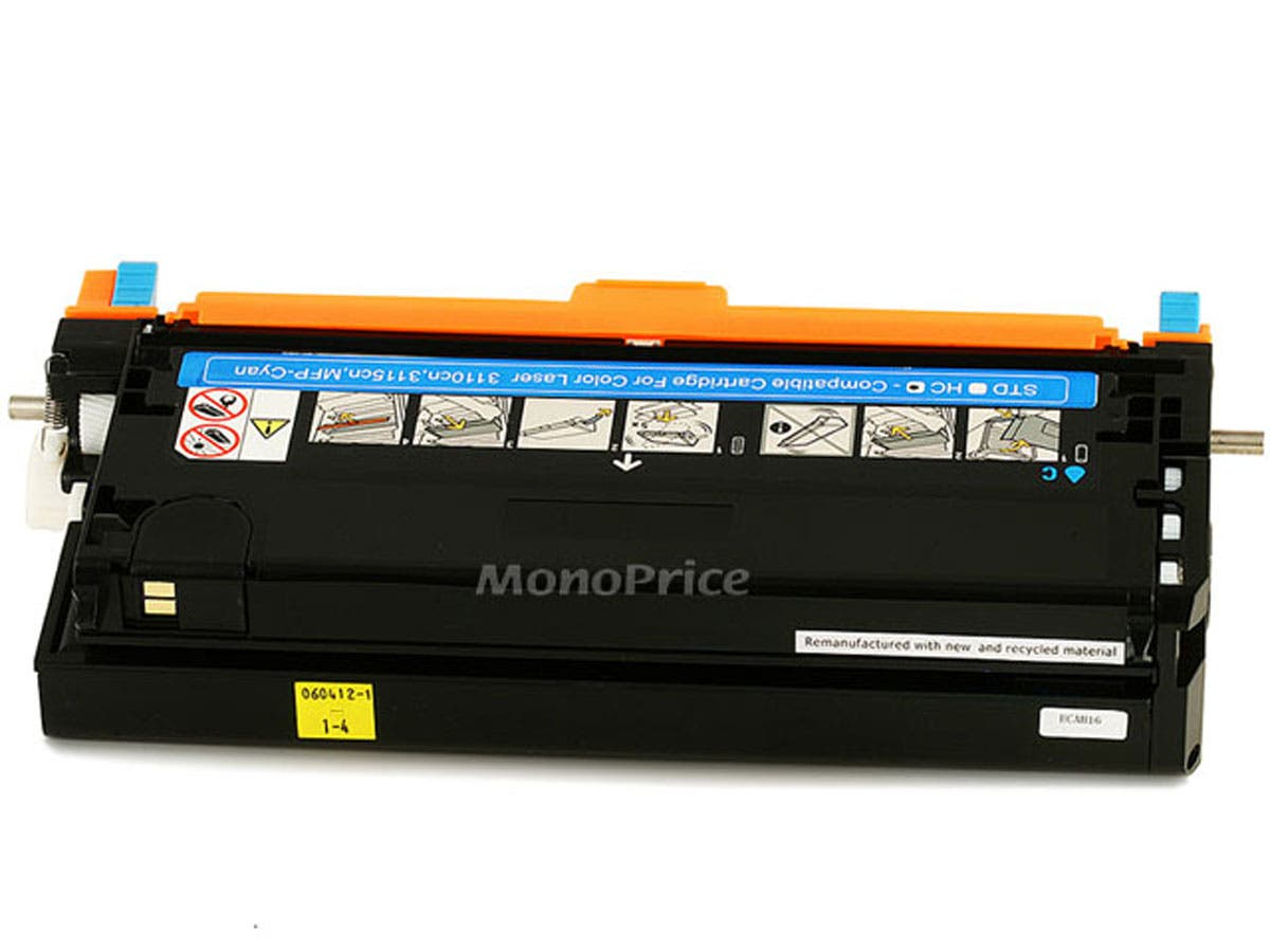 Monoprice Compatible Dell 3110Y/3115Y Laser Toner - Yellow (High Yield)-Large-Image-1