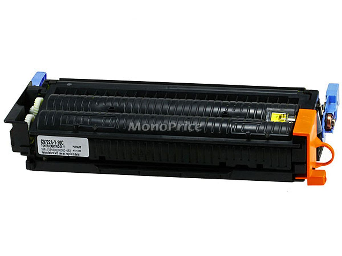 Monoprice remanufactured HP C9722AY Laser/Toner-Yellow-Large-Image-1