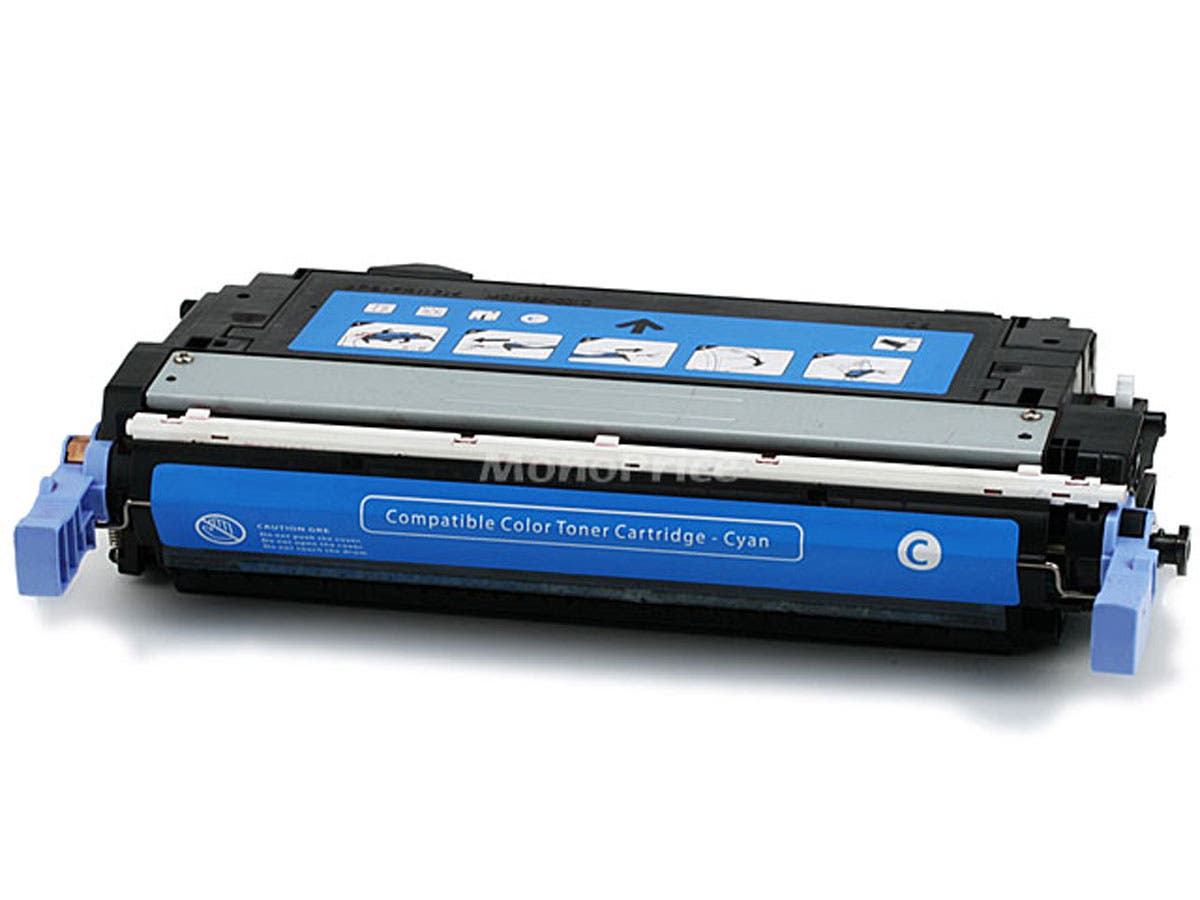 Monoprice Compatible HP CB401A Laser Toner - Cyan-Large-Image-1