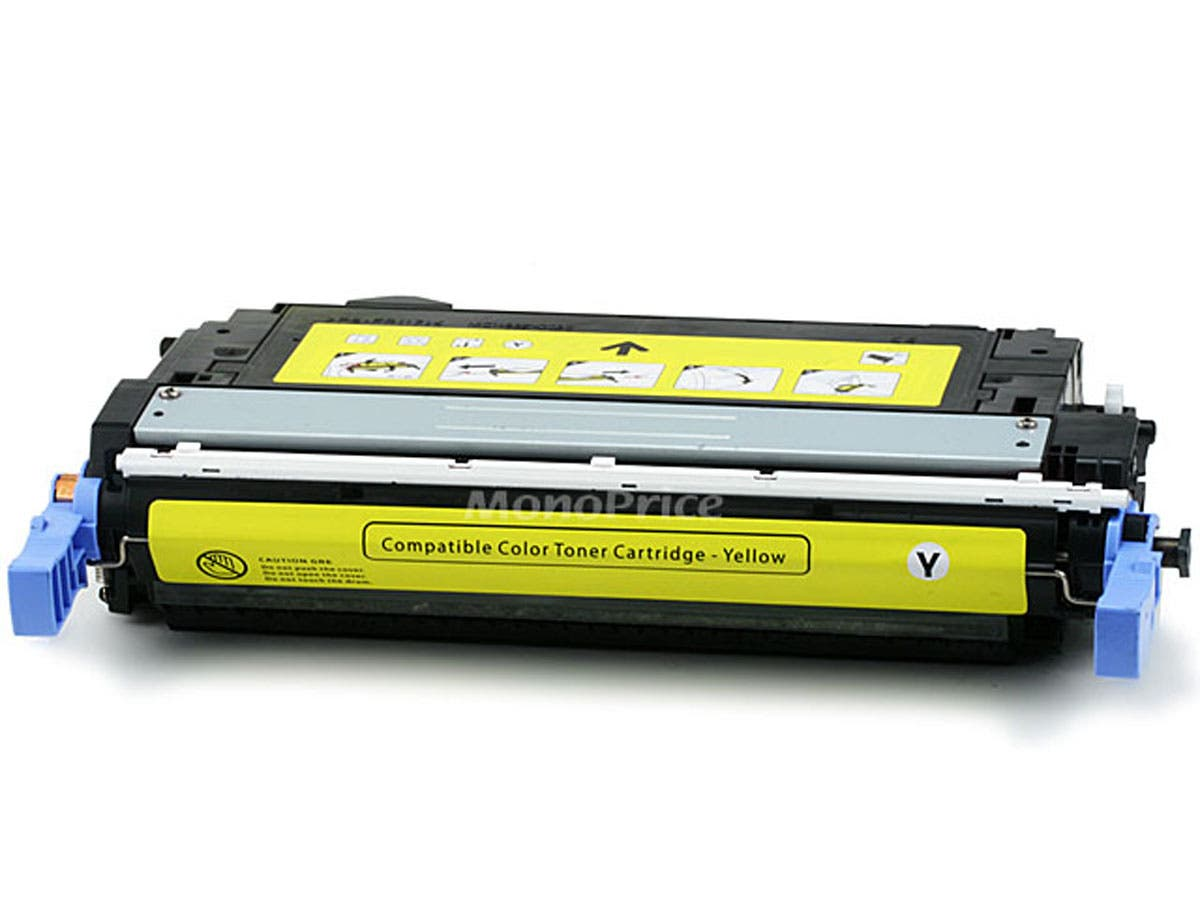 Monoprice Compatible HP CB402A Laser Toner - Yellow-Large-Image-1
