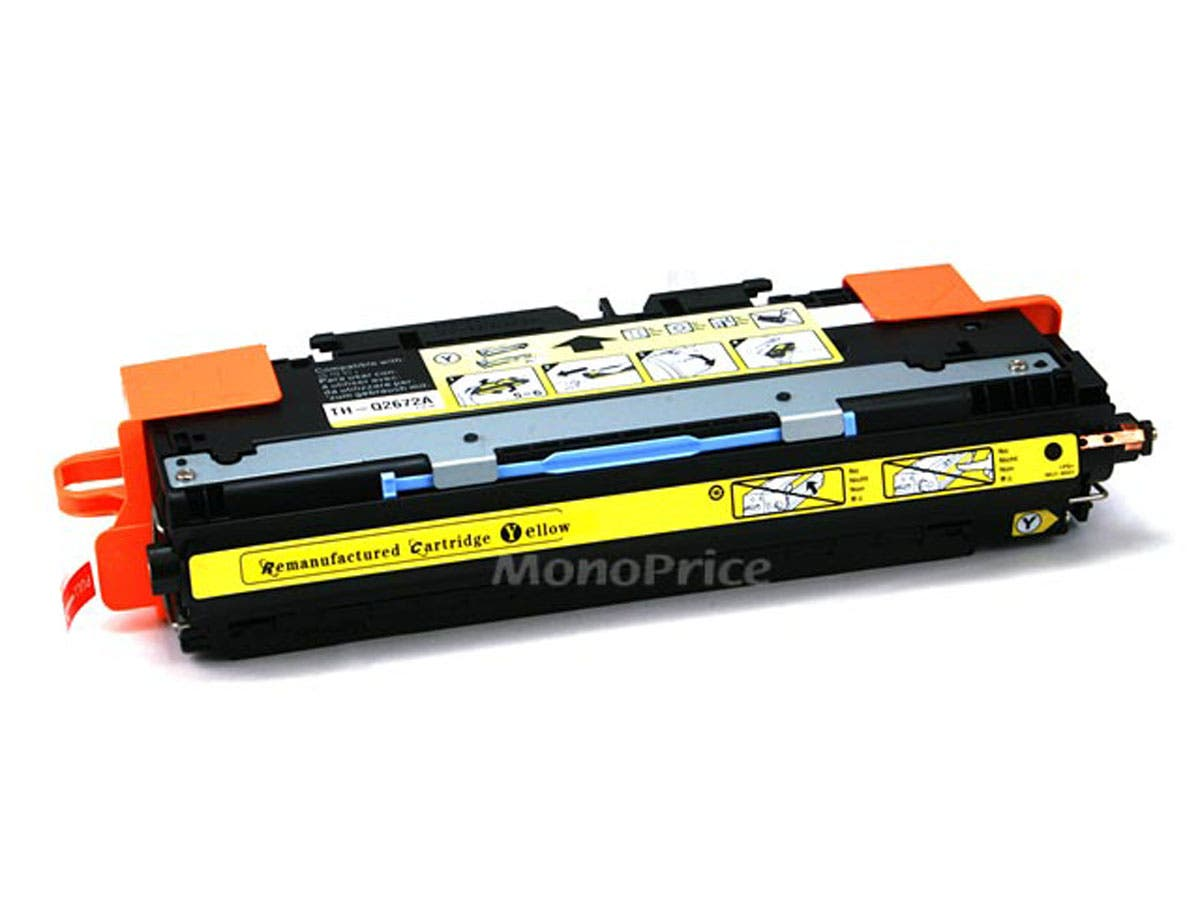 Monoprice Compatible HP Q2672A Laser Toner - Yellow-Large-Image-1
