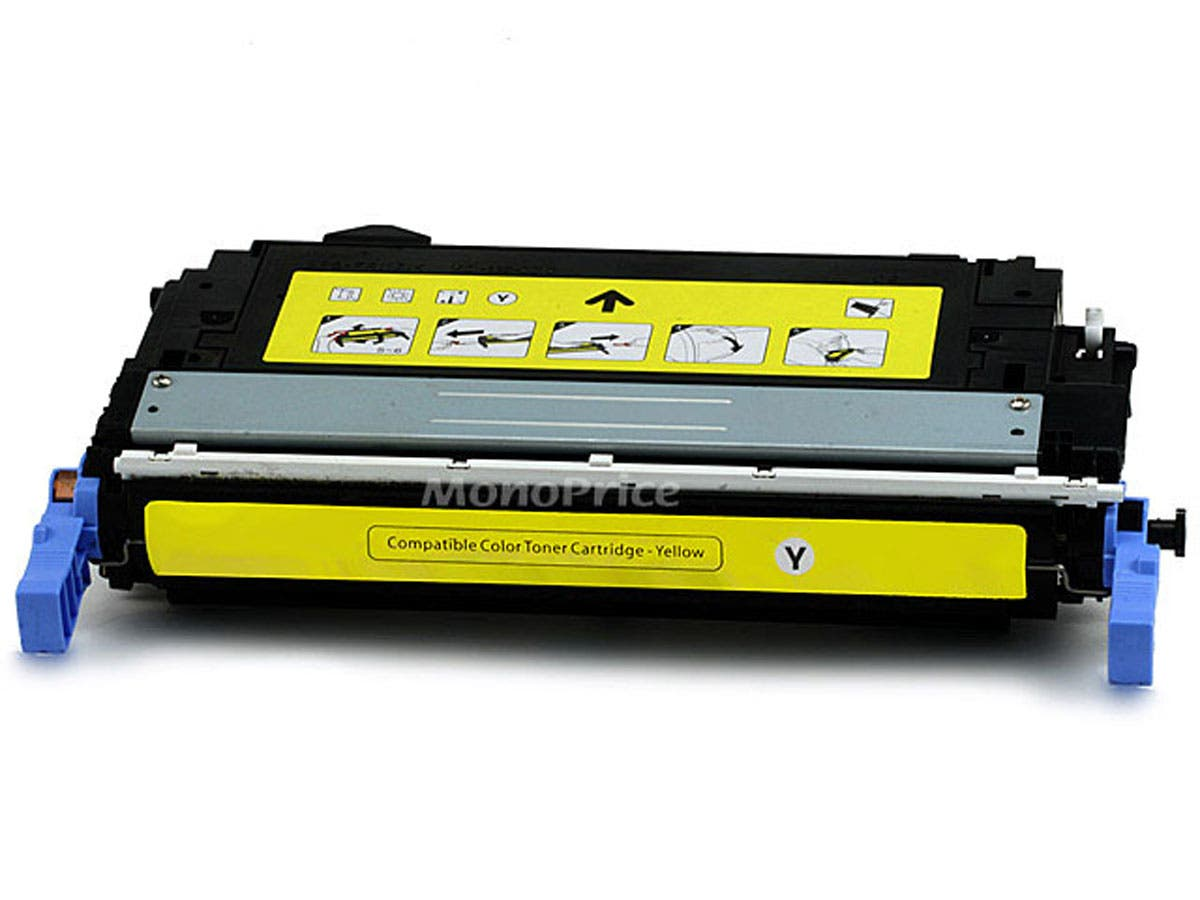 Monoprice Compatible HP Q6462A Laser Toner - Yellow-Large-Image-1