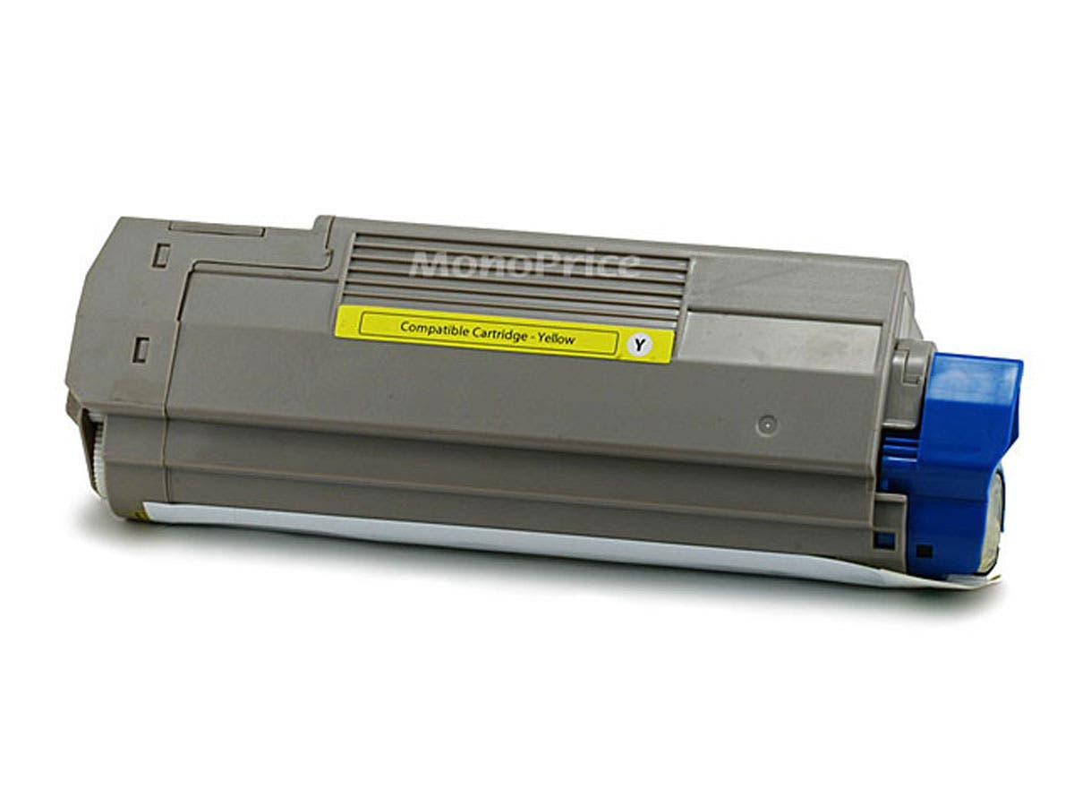Monoprice Compatible okidata C5500/C5800/43324401 Laser Toner - Yellow-Large-Image-1