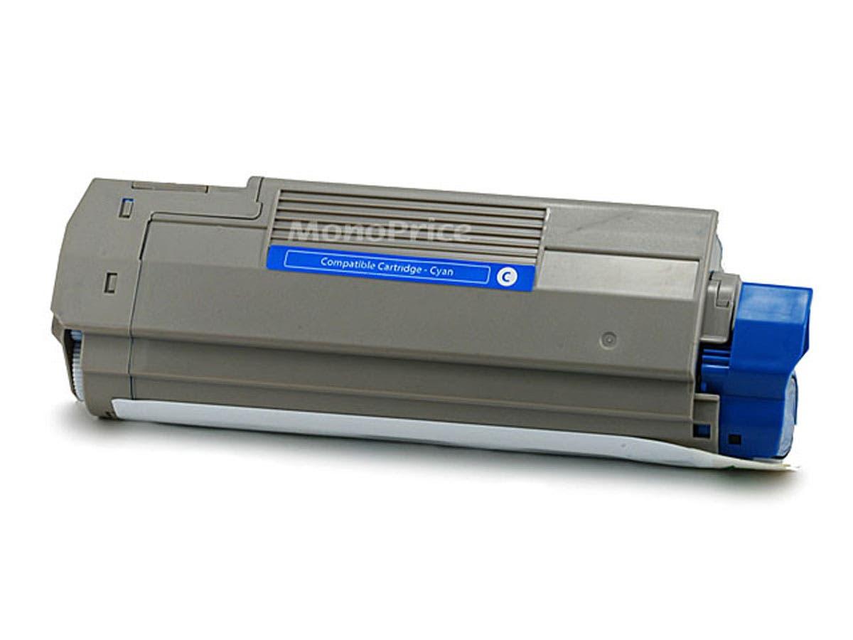 Monoprice Compatible okidata C5500/C5800/43324403 Laser Toner - Cyan-Large-Image-1