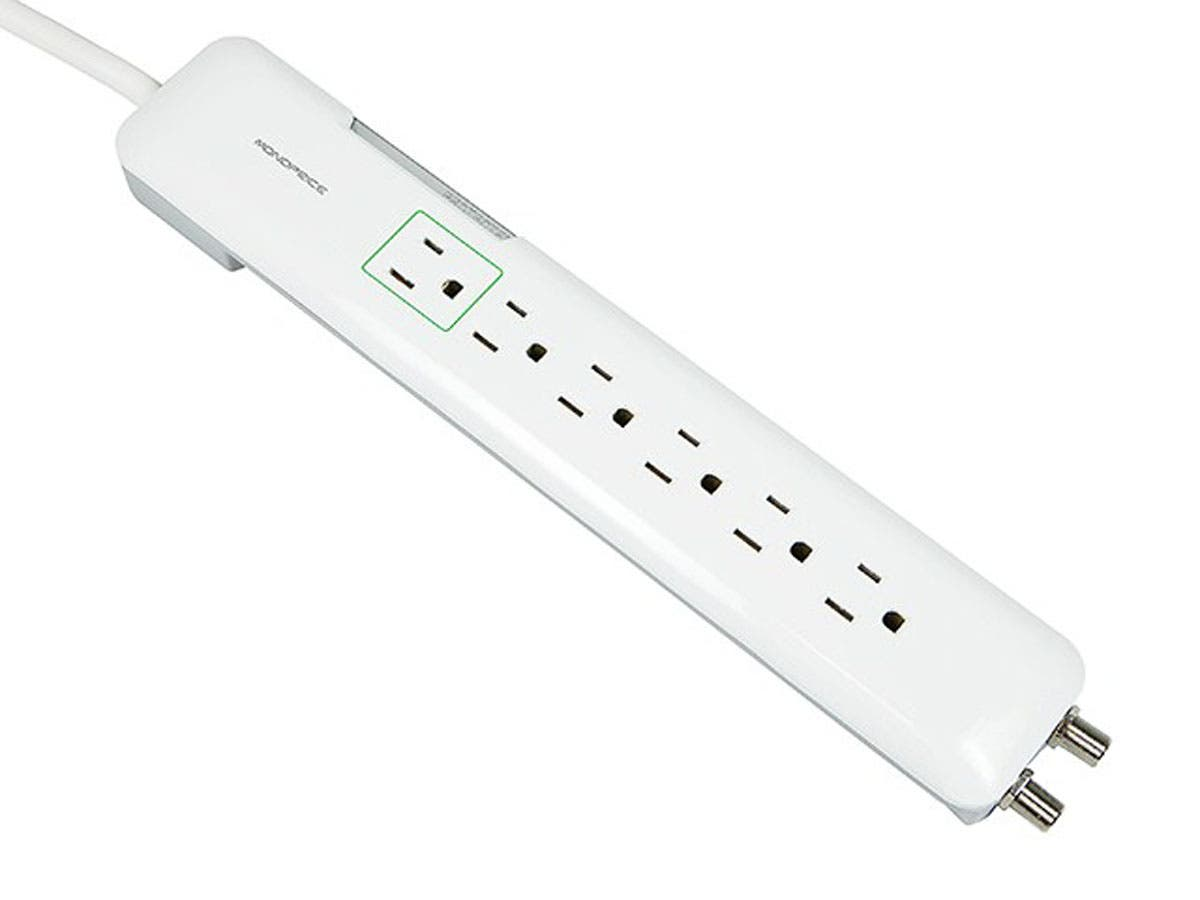 Monoprice 6 Outlet Slim Power Surge Protector - 1080 Joules-Large-Image-1