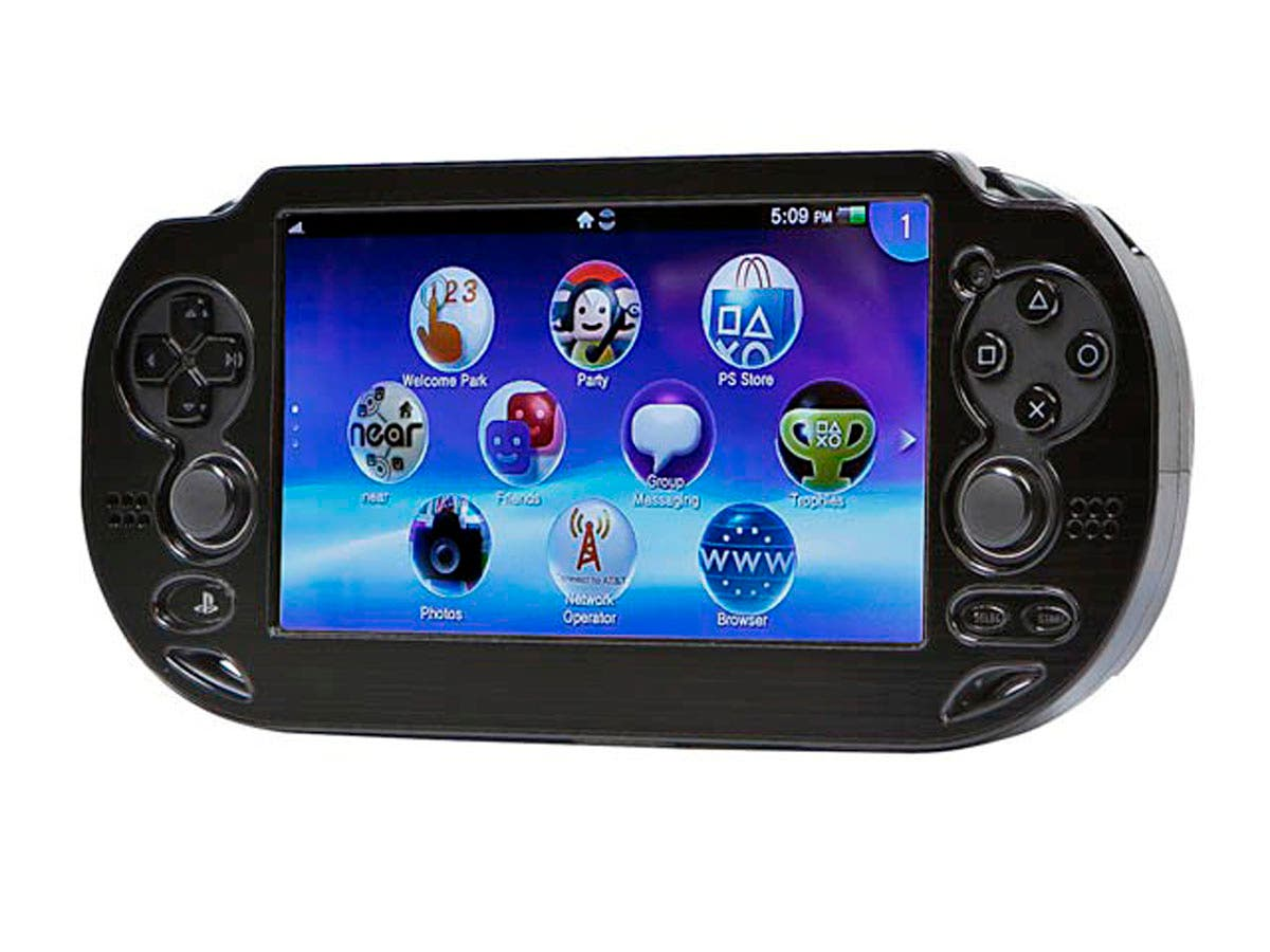 PlayStation Vita Brushed Aluminum Clamshell Protective Case - Black