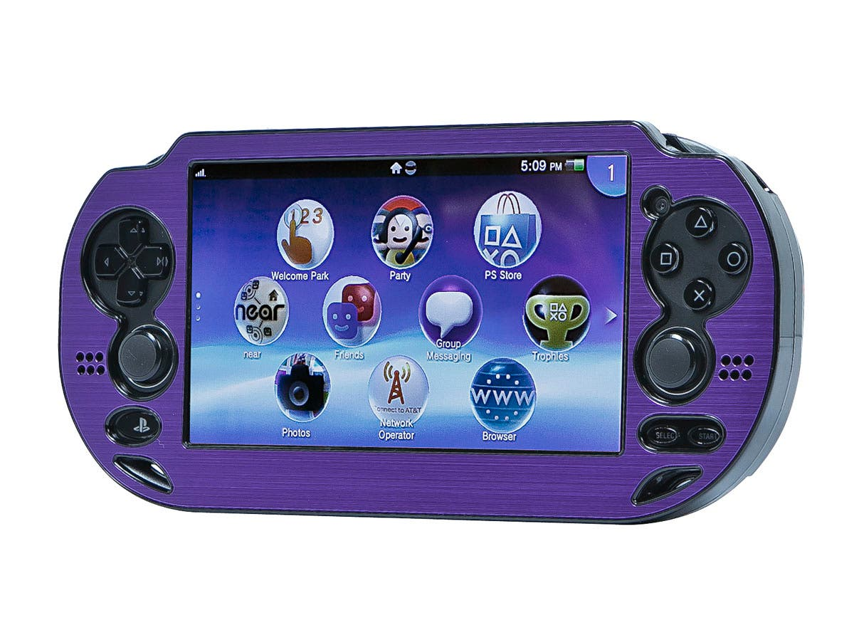 PlayStation Vita Brushed Aluminum Clamshell Protective Case - Purple