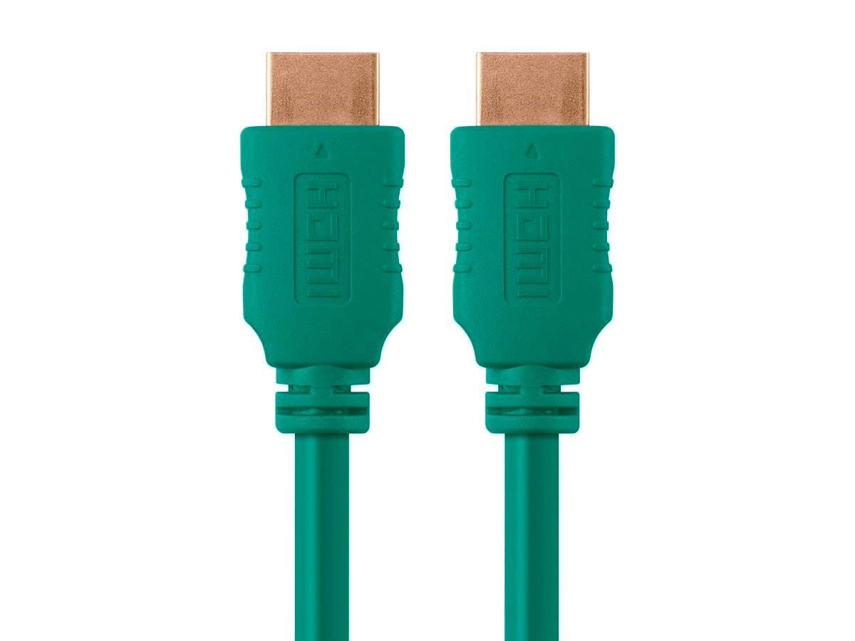 Monoprice 10ft 28AWG High Speed HDMI® Cable w/Ferrite Cores - Green ...