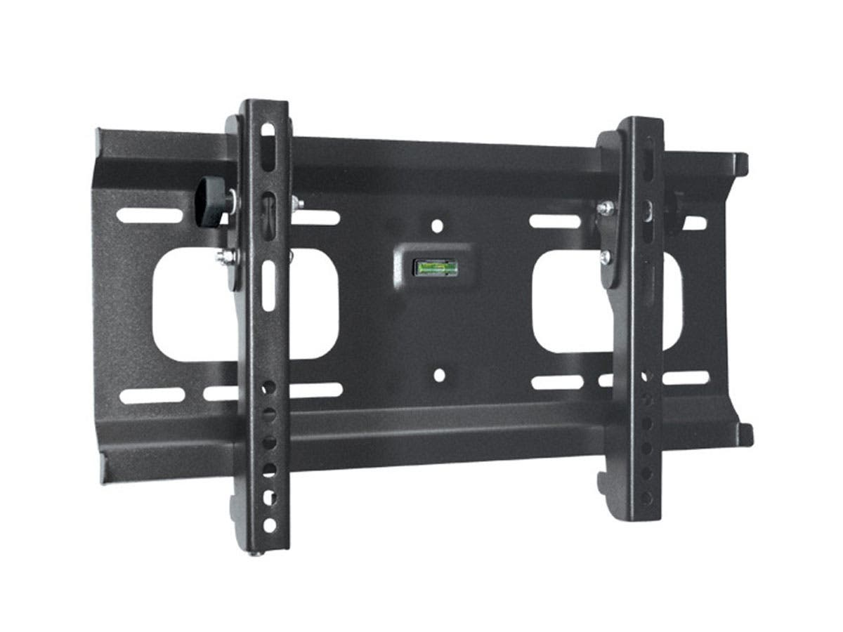 Monoprice Stable Series Ultra-Slim Tilt TV Wall Mount Bracket For TVs 32in to 55in, Max Weight 165lbs, VESA Patterns Up to 400x200, UL Certified-Large-Image-1